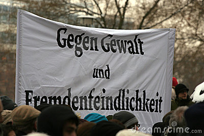 Dresden, 13 de febrero - ninguna violencia Imagen de archivo editorial