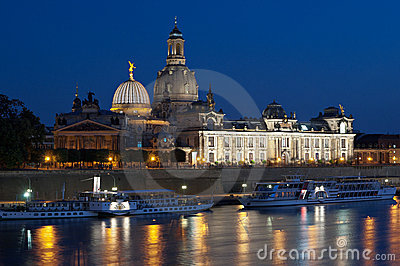 Dresden Albertinum at twilight
