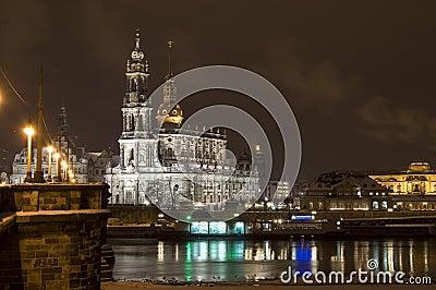 Dresden bij Nacht