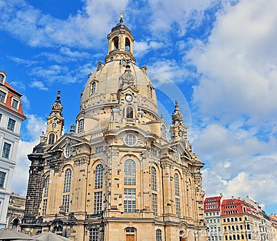 Dresden cathedral Editorial Stock Photo