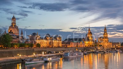 Dresden Germany Time lapse stock video