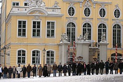 Dresden, February 13 - The human chain Editorial Photo