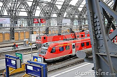 Dresden hauptbahnhof train platform editorial stock for Berlin to dresden train