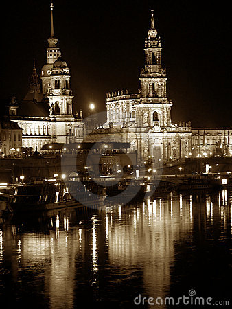 Dresden by night (Germany)