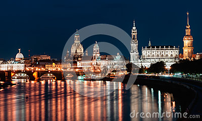 Dresden night view