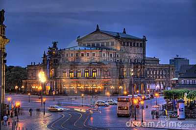 Dresden Opera House in HDR