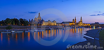 Dresden at twilight