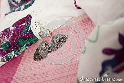 Dress and earrings