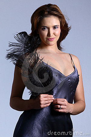 Dress and feather