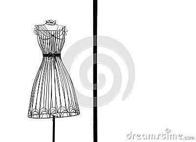 Dress frame