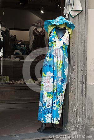 Dress in an Italian Boutique