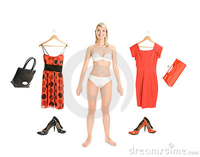 Dress up the girl item set
