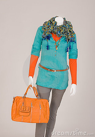 Dressed mannequin with Bag