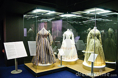 Dresses and photographs from 1890 to 1950 Editorial Photo
