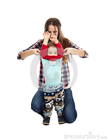 Dressing up the toddler