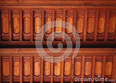 Drewniany budynku sufit