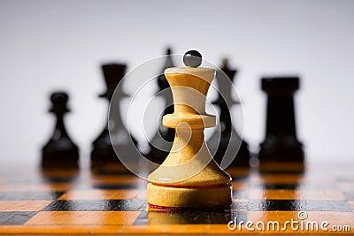 Drewniany chessboard