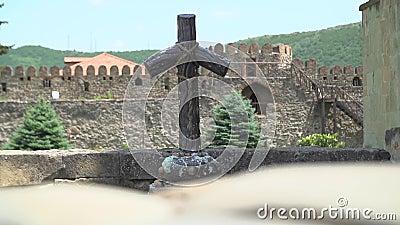 Drewniany krzyż w Gruzja zbiory wideo