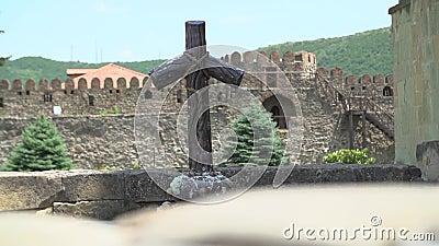 Drewniany krzyż w Gruzja zbiory