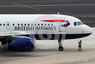 Dróg oddechowych British samolot Obraz Editorial