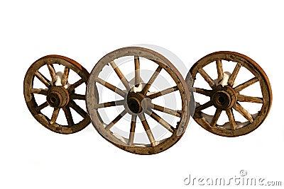 Drie houten wielen royalty vrije stock afbeeldingen afbeelding 1883559 - Houten doos op wielen ...