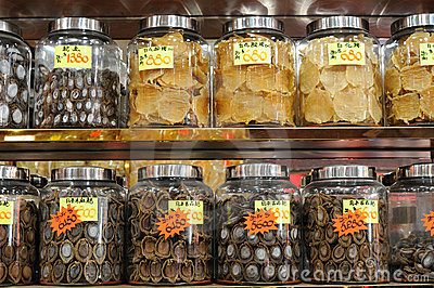 Dried abalone and fish maw