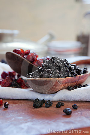 Dried blueberries & cranberries