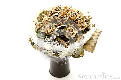 Dried bunch of roses