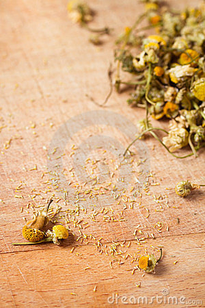 Dried chamomile seed