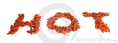 Dried chili peppers paprika hot