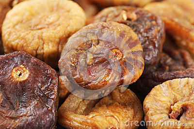 Dried fig background