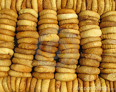 Dried figs full frame