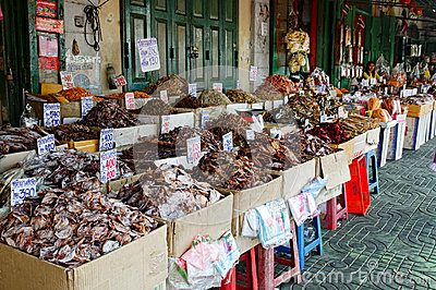 Dried fish Editorial Stock Image