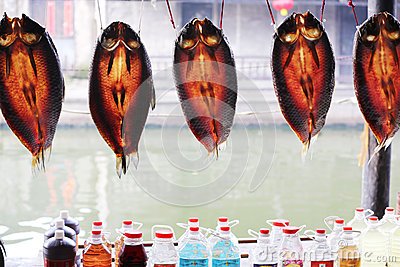 Dried fish drying