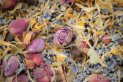 Dried flower potpourri aromatherapy