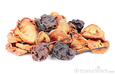 Dried fruit isolation on white