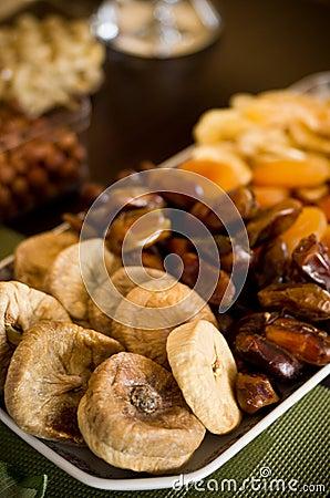 Dried fruit still life
