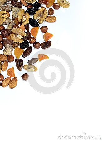 Free Dried Fruits And Nuts Royalty Free Stock Images - 28424859