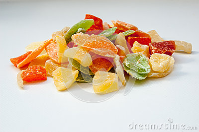 Dried fruits candies