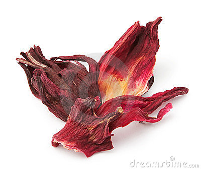 Dried hibiscus tea petals