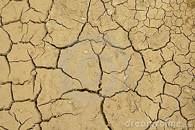 Dried lakebed