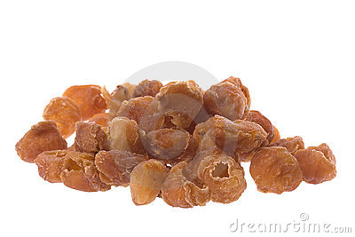 Dried Longans Isolated