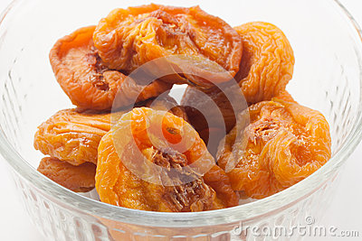 Dried Peaches in bowl