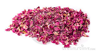 Dried petals of rose