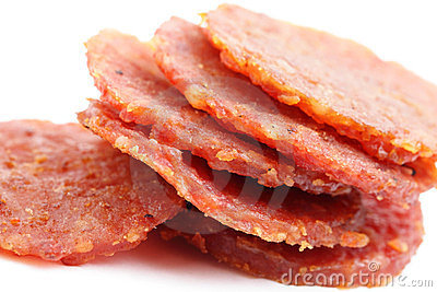 Dried pork snack