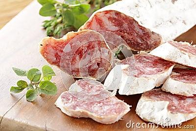 Dried smoked sausage sliced 