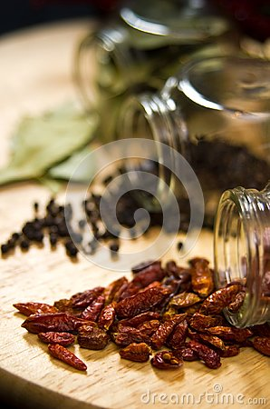 Dried spices still life
