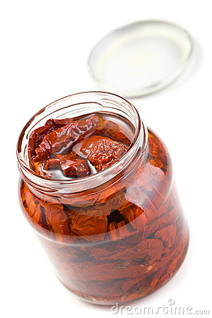 Dried Tomatoes In Glass Jar Stock Photos - Image: 18767943