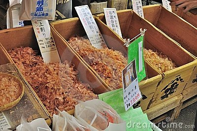 Dried tuna flakes or dashi on sale Editorial Photography
