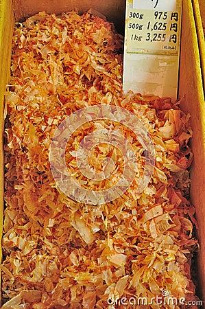 Dried tuna flakes on sale